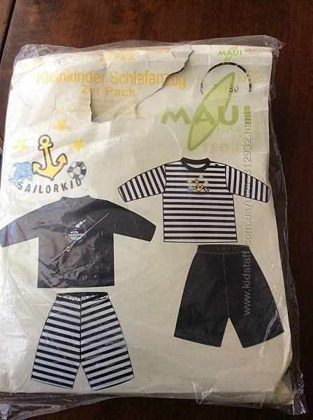 Комплект 2 -е детские пижамки размер 74/80 ТМ Maui