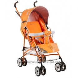 Коляска-трость Geoby D208DR-F ROXT бу цвет оранжевый с серым