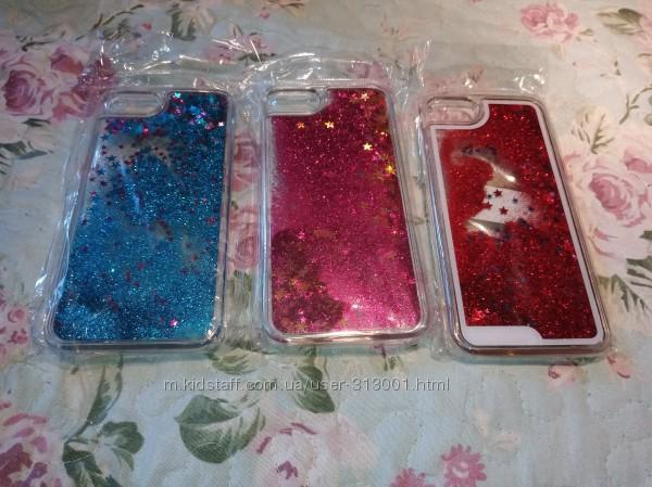 Новые чехлы аквариум с блестками для IPhone 7, цена шара