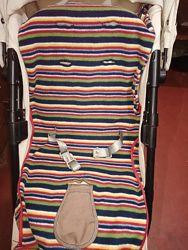 Детский футмуф флисовый матрасик чехол для ножек в коляску, санки