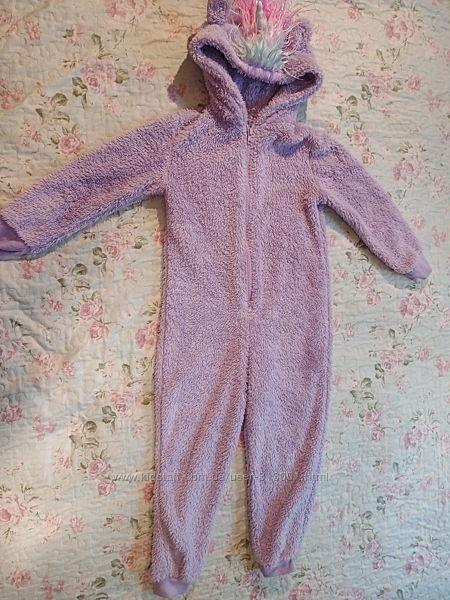 Теплая пижама кигуруми Единорог