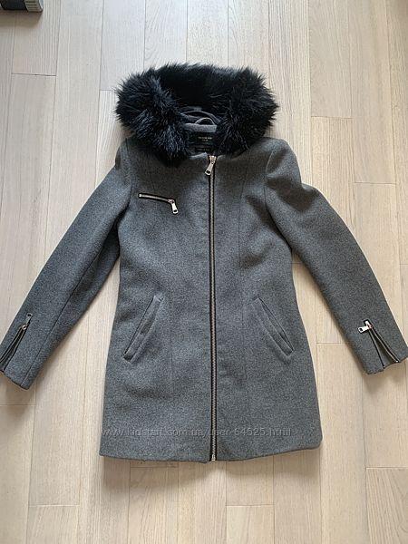 Теплое шерстяное пальто Reserved р.34