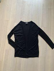 Чёрный легкий кардиган H&M р. XS 11-13лет