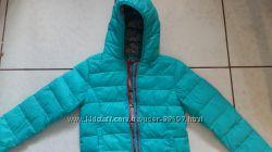 Красивая куртка деми бирюза NEXT 8-10 лет р. 140