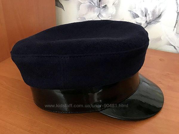 Картуз, кепка синяя, шерсть