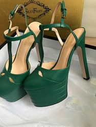 Туфли босоножки в стиле Gucci на платформе