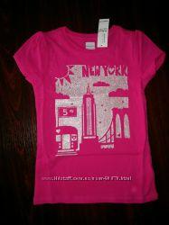 Нові стильні футболки для дівчат OLD NAVY, р. 4Т. Париж та Нью-Йорк
