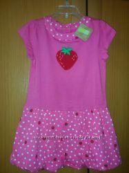 Нове легке літнє плаття CRAZY8 на 4 роки з клубнічкою