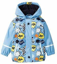Нова термо куртка дощовик на флісі LUPILU р.122-128. Дождевик грязепруф