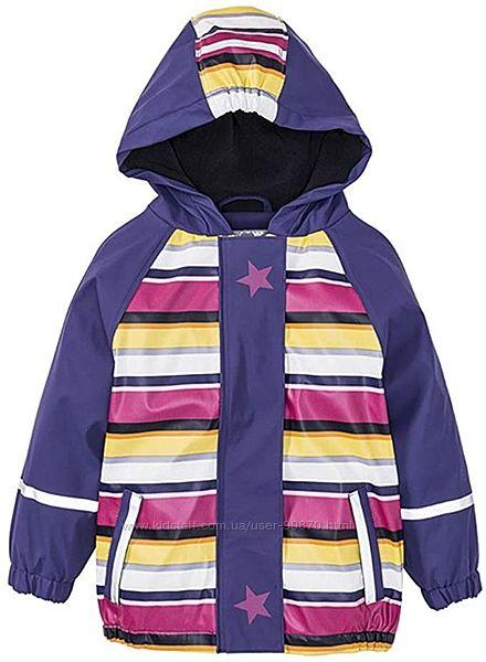 Нова термо куртка дощовик на флісі LUPILU р.86-92. Дождевик грязепруф