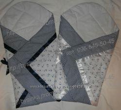 Конверт-одеяло-трансформер на выписку новорожденного, крещение