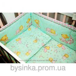 Детское постельное белье в кроватку, защита, подушка, одеяло для девочек.