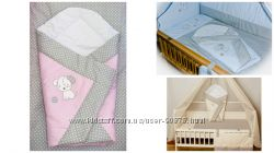Конверт-одеяло-трансформер на выписку новорожденного с вышивкой