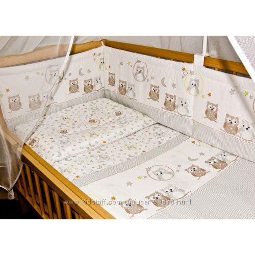 Простынь, простыня на резинке в детскую кроватку бязь Польша