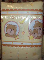 детское постельное белье бортики бампер защита для кроватки - Мишки в круге