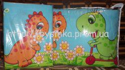 Динозавры на прогулке- детское постельное белье
