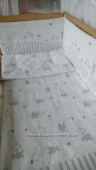 Постельное белье в кроватку новорожденного- Зайка