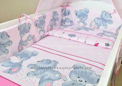 Детское постельное белье в кроватку новорожденного Мишки с подушкой