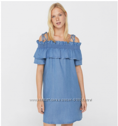 43b24acd2f4eb0f Джинсовое платье с рюшами Mango Испания, 600 грн. Женские платья ...