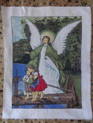 Вышитая картина - Детский ангел-хранитель - Вышивка