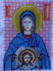 Вышитая бисером картина Святая Мученица Вероника