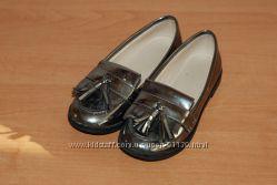 Кожанные лоферы туфли ZARA