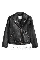 Байкерская куртка новая HM размер 170  14лет