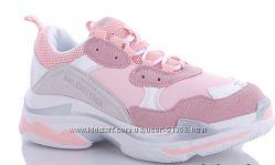 Модные розовые кроссовки на весну CINAR Польша р. 36-41
