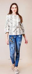 Брендовые джинсы Sassofono р. 40