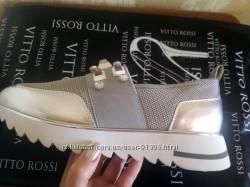Новые кожаные слипоны из натуральной кожи  Vitto Rossi р. 40