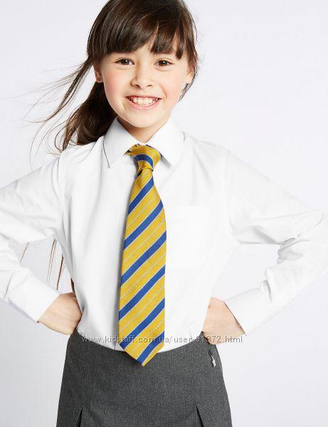Школьные блузки для школы MARKS&SPENSER, Чистый хлопок, Оригинал, р. 134