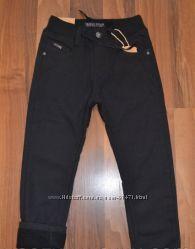 Школа .  Утеплённые штаны на флисе для мальчиков 116-152р.