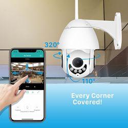 Беспроводная поворотная WiFi IP камера, датчик движения