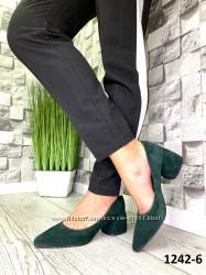 Женские туфли, большой выбор размеров и цветов, кожа и замша