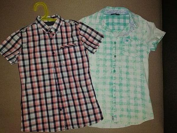 Две стильные рубашки Reserved р. 140
