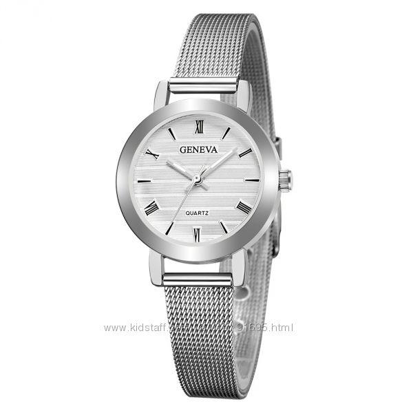 Оригинальные часы Geneva на металлическом браслете