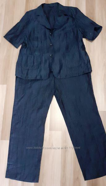 Брючный костюм Kirsten  из полированного льна размер 52