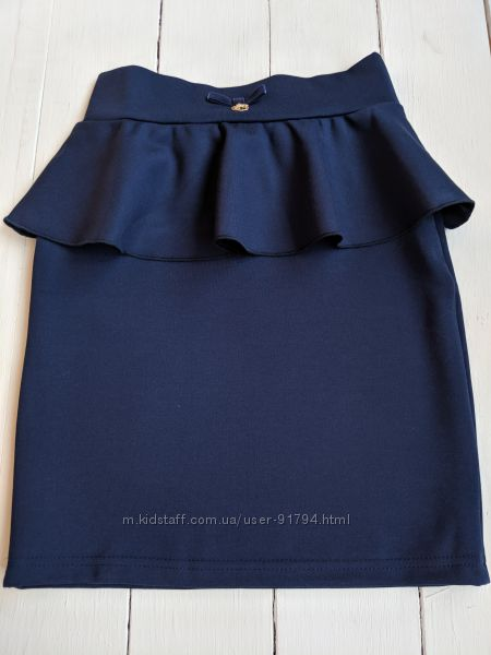 Школьная юбка с баской Smil 128 - 164 р.