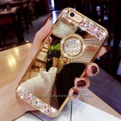 шикарный чехол бампер iPhone 5 . 5s. SE  зеркальный