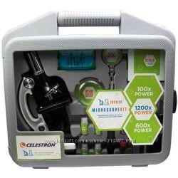 Микроскоп Celestron 100х-1200х в кейсе 44120 - лучший для детей