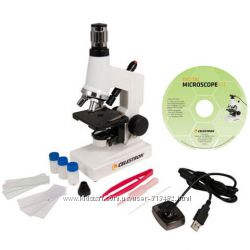 Микроскоп цифровой Celestron 44320 40х-600х с камерой и набором суперцена