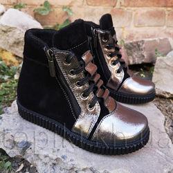 Кожаные деми ботинки N-Style 074 размеры 30-36