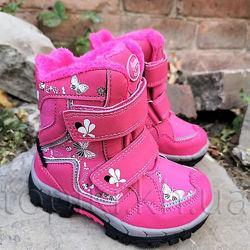 Зимние ботинки American club 2819p фуксия размеры 22-26