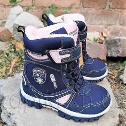 Зимние ботинки American Club 3920b синий размеры 22-26