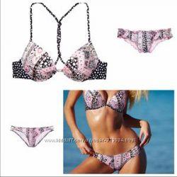 Victorias Secret, купальник, пуш-ап, 2 плавок оригинал 34В, XS-S.