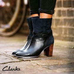 CLARKS  кожаные замш ботинки