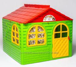 Домик детский со шторками 129-129-120 см TM Doloni Toys 02550