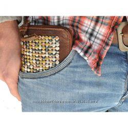 Стильный, кожаный кошелёк Cowboysbag Bradford унисекс. Винтаж.