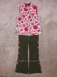 Комплект Джимбори вельветовые штаны р. 6 slim и двухсторонняя жилетка р. М