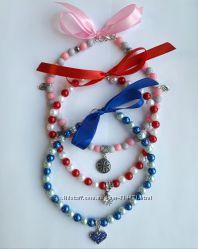 Красивое ожерелье-ошейник для маленькой собачки